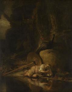 Hera verbergt zich tijdens het gevecht tussen de goden en de giganten
