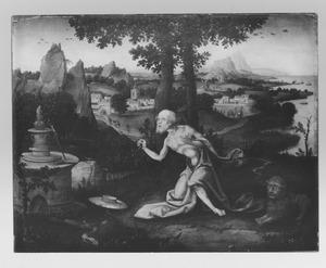 De boetende H. Hieronymus in de wildernis