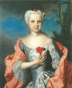 Portret van Prinses Karoline Luise of Hesse-Darmstadt (1723-1783)