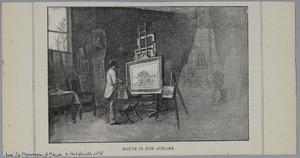 Anton Mauve in zijn atelier