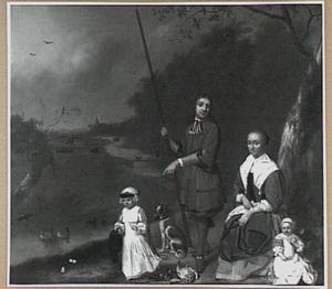 Landschap met familieportret