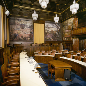 Interieur van de raadzaal
