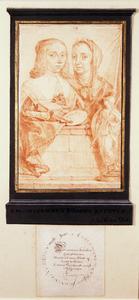 Dubbelportret van Johanna Koerten (1650-1715) en Anna Maria van Schurman (1607-1678)