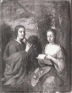 Een musicerende man en vrouw