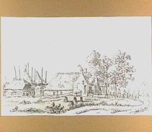 Landschap met boerderij in de omgeving van Buren