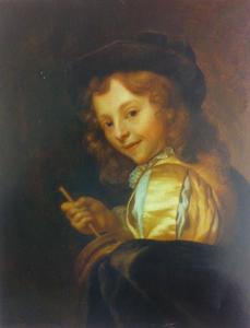 Een jongen met een rommelpot