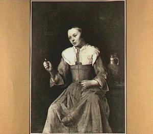 Garenspoelende vrouw