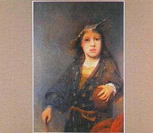 Portret van een onbekende jongen met een bal