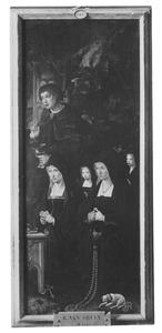 De H. Johannes de Evangelist en stichtersportretten