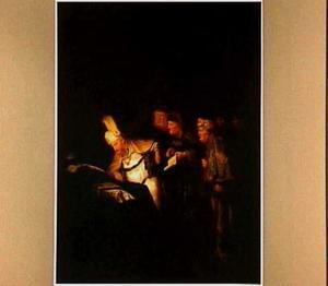 Pilatus weigert het opschrift boven Christus kruis te wijzigen