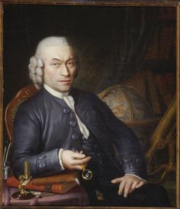 Portret van een astronoom, waarschijnlijk Pieter van Nieuwland