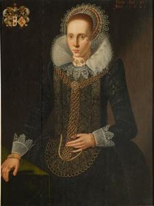 Portret van Catherina van Scheltinga (1598-1631)