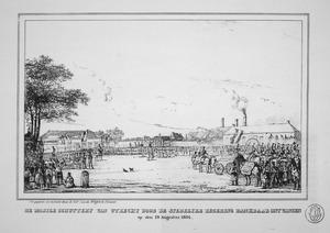 De mobile schuttery van Utrecht door de stedelijke regering dankbaar ontvangen op den 19 Augustus 1834 (authentiek)