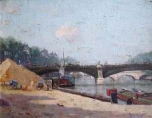 Gezicht op de Seine, Parijs