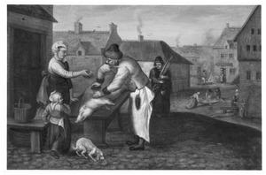 Het slachten van een varken (de herfst)