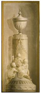 Kindjes op voetstuk van pilaster