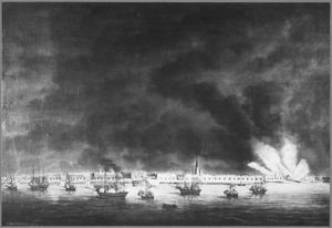 Bombardement van Antwerpen, door het Hollands eskader op de Schelde onder bevel van Kapitein ter Zee J.C. Koopman