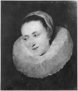 Portret van een vrouw, mogelijk Margriet de Vos, de vrouw van Frans Snijders