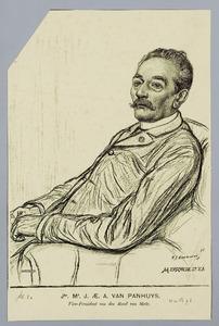 Portret van jhr. mr. J.AE.A. van Panhuys (1836-1907)