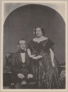 Portret van Paulus Anne van Beresteyn (1824-1908) en Eldina Aldegonde Gaymans (1835-1915)