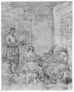 Christus tijdens de maaltijd te Emmaüs (Lucas 24:29-32)