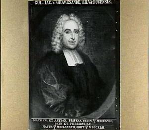 Portret van Willem Jacob van 's-Gravesande (1688-1742)