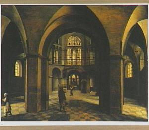 Interieur van de Dom te Aken