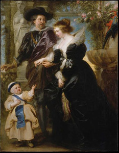 Peter Paul Rubens (1577-1640), met Hélène Fourment (1614-1673) en zijn zoon Peter Paul