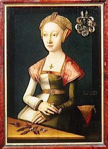 Portret van een vrouw uit Lübeck