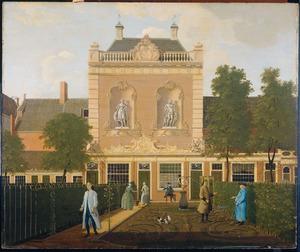 De stadstuin en het koetshuis behorende bij het perceel Keizersgracht 524, Amsterdam, destijds bewoond door Nicolaes Doekscheer en Elisabeth Groen