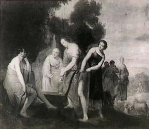 Mozes en de zeven dochters van Jetro (Exodus 2:16-22)