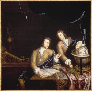 Portret van Jan en Petrus van Musschenbroeck