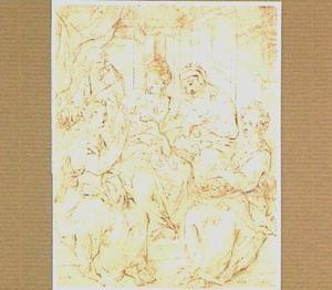 De H. Familie met H. Anna en twee vrouwelijke Heiligen