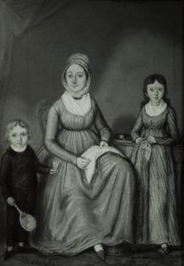 Familieportret van J.A. van Loon (....-....), Johann Wilhelm Bungenberg (1796-1866) en Anna Maria Sophia Bungenberg (1793-1825)