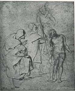 Studie van Melchisedek, Eliah en een engel