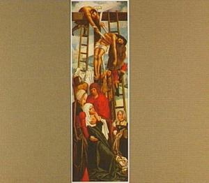 De kruisafneming (op de buitenzijde: de H. Antonius van Padua)