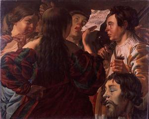 De vrouwen van Israel halen David in met zang en dans na zijn overwinning op Goliat  (1 Samuel 17:54)
