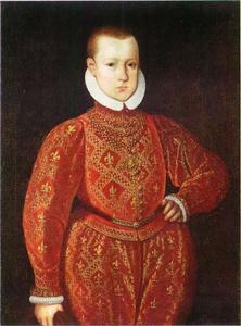 Portret van Christiaan IV  (1577-1648) als kind