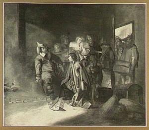 Soldaten plunderen een huis