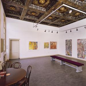 Zaal met plafondschildering
