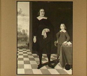 Dubbelportret van een man met zijn zoon