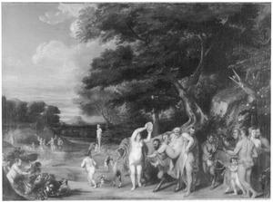 Boslandschap met de triomf van Silenus