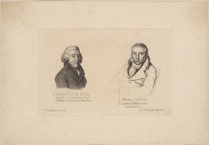 Portretten van Johannes Willmet (1750-1835) en Johannes Kinker (1764-1845)
