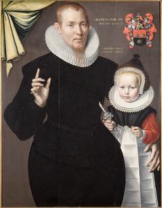 Portret van Albert Fransz. Sonck (1571-1658) en zijn zoon François (1600-....)
