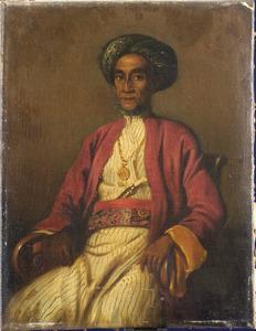 Portret van Pangeran Syarif Hamid Alkadri (?-1872), sultan van Pontianak en prins van Mantawa 1855-1872
