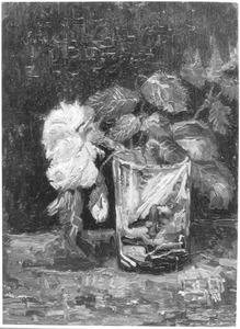 Bloemstilleven: vaas met rozen
