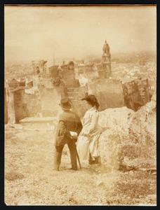 Albert Neuhuys en zijn vrouw op reis in Dalmatië, mogelijk bij Dubrovnik