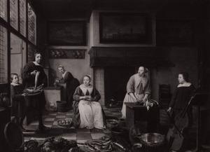Groepsportret van Jacob Bierens (1622-1664), Cornelia Haeck (1627-1687) en hun kinderen