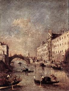 Gezicht op de Rio dei Mendicanti, Venetië