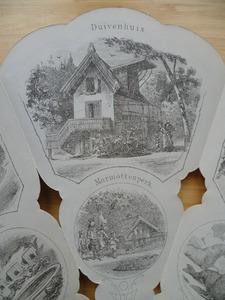 Medaille waaier: Duivenhuis en marmottenperk